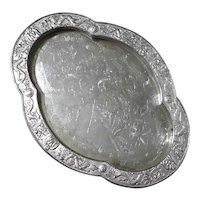 Chinese Silverplated Tray