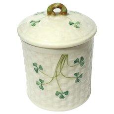 Belleek Jam Jar With Green Mark