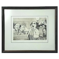 Charles Bragg Limited Edition Pencil Signed Etching