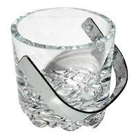 Mid-Century Modern Vintage Scandinavian Art Glass Ice Bucket