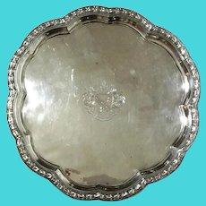 J. Green & Co Sheffield Silverplate Salver, Circa 1799