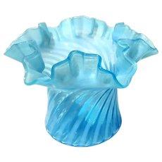 Fenton Art Glass Opalescent Swirl Top Hat Vase