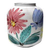 Arabia Finland Floral Pottery Vase
