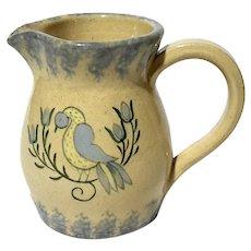 Folk Art Pottery Pitcher By Nancy Anderson