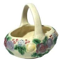 Roseville Pottery Rozane Line Basket, Circa 1917