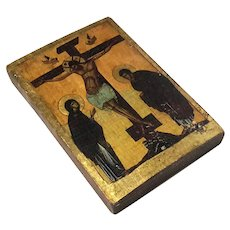 Russian Icon The Crucifixion