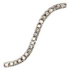 Diamond Wave 14kt White Gold Pendant