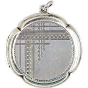 Art Deco Silver Geometric Locket