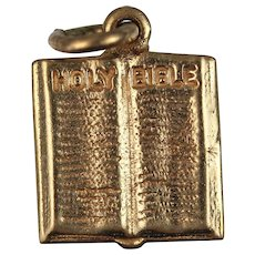 Bible Charm 14kt Gold