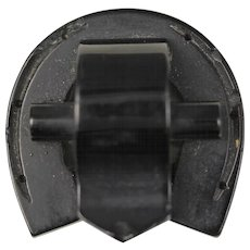 Victorian Whitby Jet Horseshoe Brooch