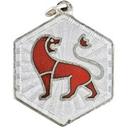 Vintage David Andersen Leo Zodiac Sign Sterling Silver Pendant or Charm