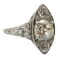 Edwardian Diamond and Platinum Ring