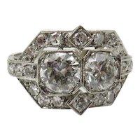 Circa 1950's Diamond and Platinum Ring