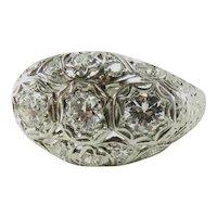 1920s 3 Stone Diamond and Platinum Ring