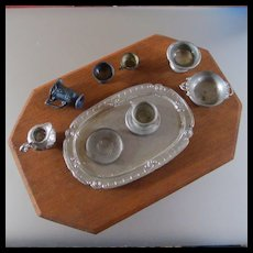 German Pewter Platter Dishes