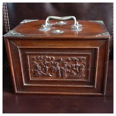 Vintage Bamboo Bone Mahjong Carved Rosewood Game