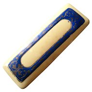Edwardian French Ivory Celluloid Enameled Pin Box