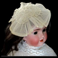 Net Lace Irish Lace Medallion For Doll Fascinator Or Accessory