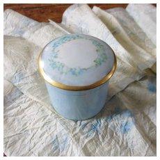 Nippon Luster Hand Painted Powder Jar