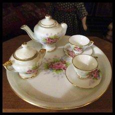 Limoges Style Hand Painted Tea Set Occupied Japan