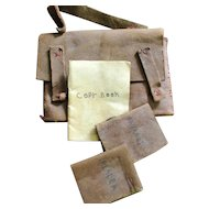 Miniature Leather School Bag With Books