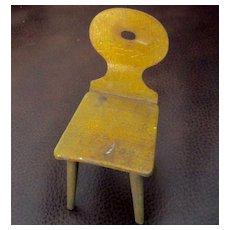Wonderful G.A Schwartz Early Tin Dollhouse Chair