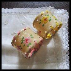 Art Deco Celluloid Ribbon Napkin Rings For Dolls