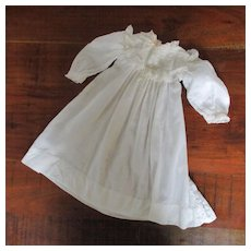 Lawn Lace Ribboned  Doll Gown