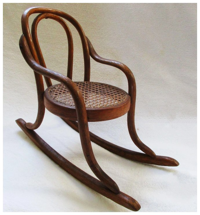 Antique Thonet Bentwood Doll Chair French 19C - Antique Thonet Bentwood Doll Chair French 19C : Vermont Vintage At