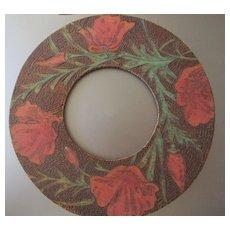 Poppies Pyrographic Frame Flemish Art