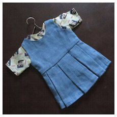 Art Deco Linen 2 Piece Doll Jumper Top