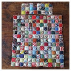 Deco Era Postage Stamp Puffy Doll Quilt Figural Prints