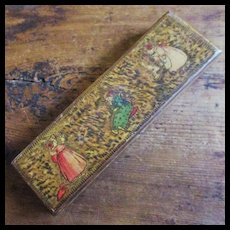 Lithographed  Wood Pencil Box For Dolly Corner