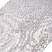 Vintage Christmas Crocheted Filet Reindeer Holly Leaves Table Cloth