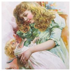 Girl Feeding Doll Ivers & Pond Piano