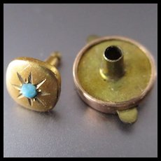 Tiniest Victorian Gold Filled Snap In Buttons Doll Clothes