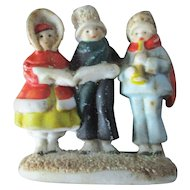 Antique Bisque German Miniature Carolers