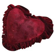 Red Velvet Large Padded Heart Cushion For Stick Pins