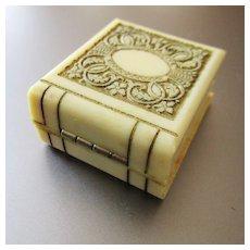 Art Deco Celluloid Ring Box Miniature Book
