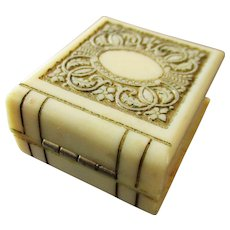 Art Deco Celluloid Ring Box Miniature Book