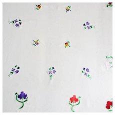 Vintage Society Silk  Small Table Cloth