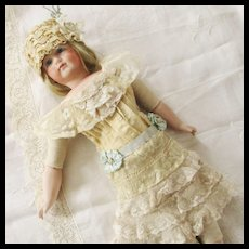 Edwardian Style Lace Dress Bonnet Cape-let