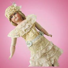 Edwardian Style Lace Dress Bonnet Cape-let