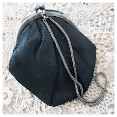 Old Silk Purse For Fashion Doll