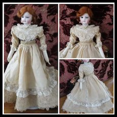 Lovely Silk Lace Gown For Fashion Doll