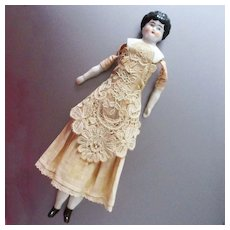 German Low Brow Lace Apron