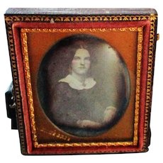 Beautiful Woman Daguerreotype For Dollhouse Mantle