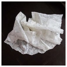 Vintage Lace Ruffled Flounce  Doll Trim Roses 56""