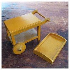 Miniature Dollhouse Wood Tea Cart Made In Germany