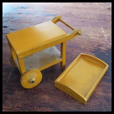 Miniature Dollhouse Wood Tea Cart Made In Germany
